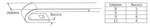 размеры крепления крючок